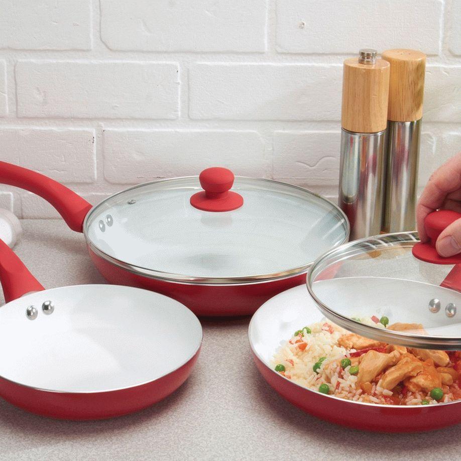 Набор сковородок керамических