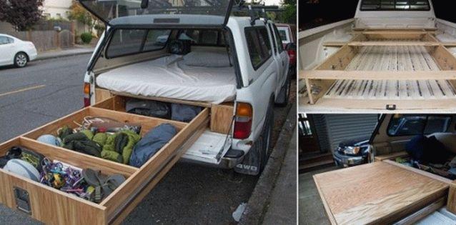Toyota Tacoma c выдвижной кроватью