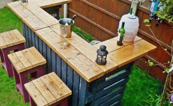 садовый бар из поддонов2