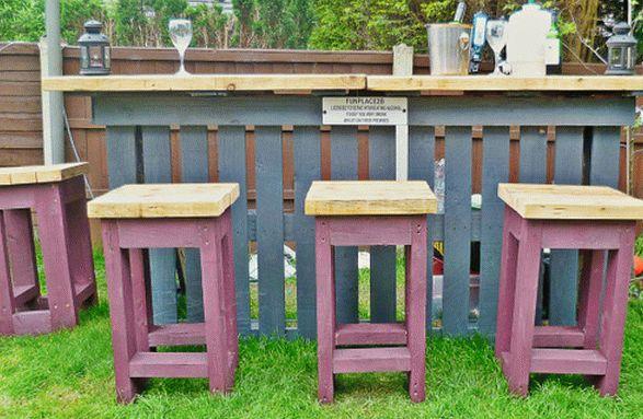садовый бар из поддонов3