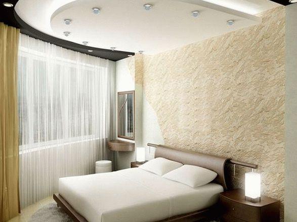 Дизайн потолка маленькая спальня