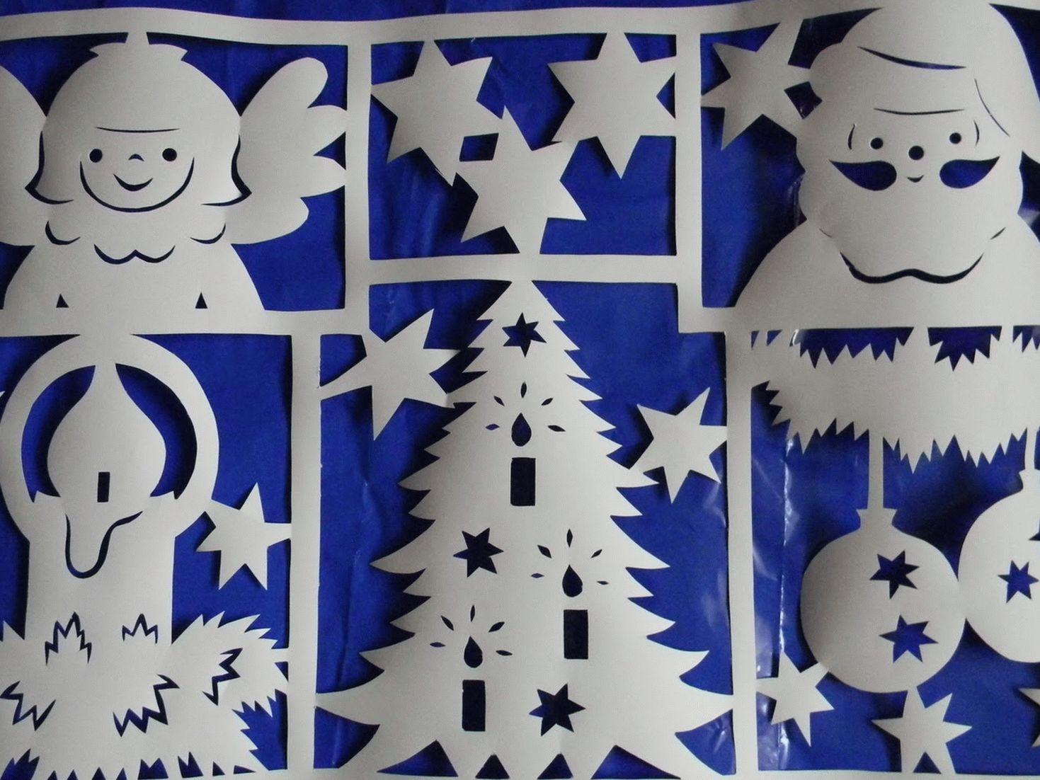 Трафареты на окно под новогоднюю тематику очень популярны