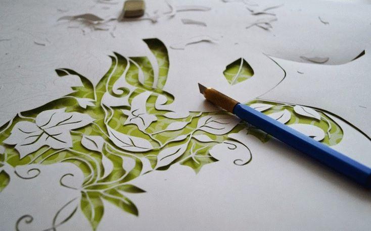 Искусство вырезания ажурных узоров из бумаги называется вытынанки