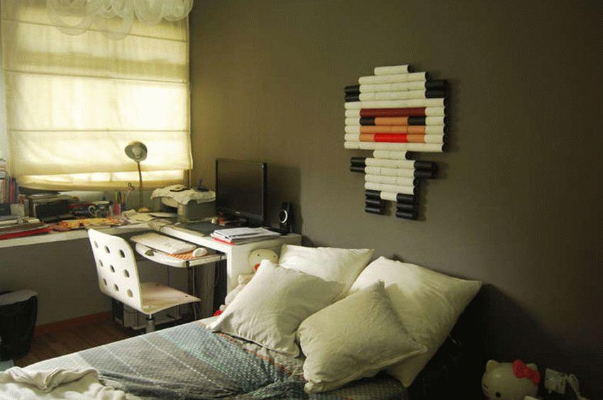 С помощью втулок можно украшать стену различными фигурками