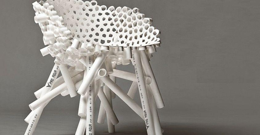 Кресло из труб