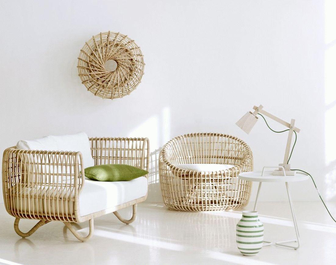Мебель из ротанга в современном дизайне