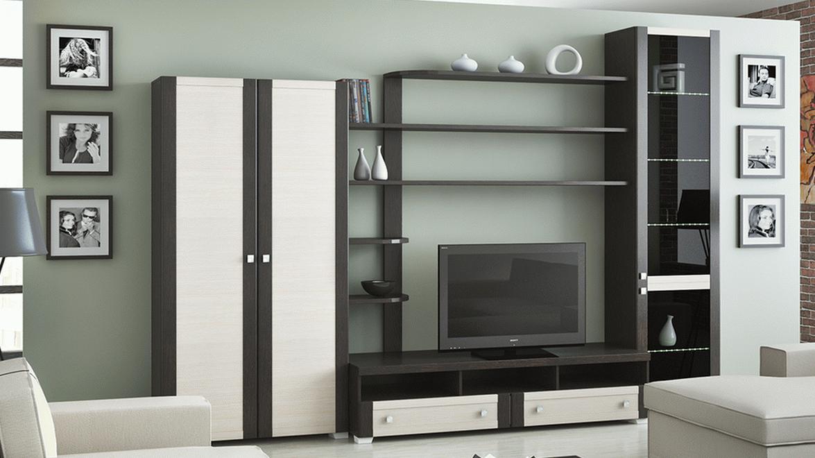 Современная модульная мебель для гостиной