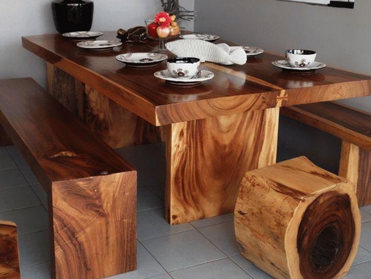 Дизайн мебели из массива дерева