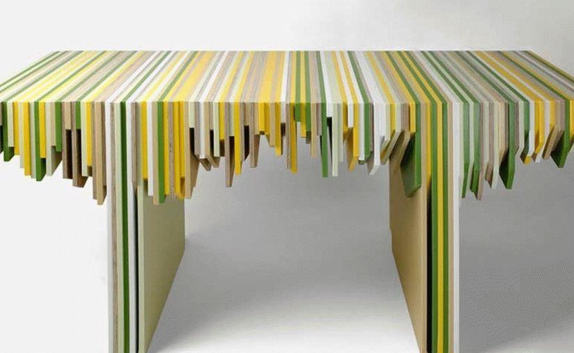Стол из обрезков фанеры
