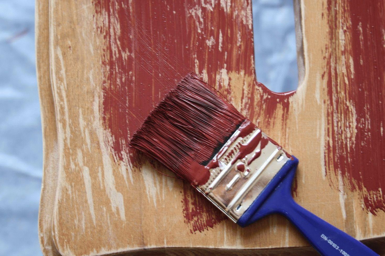 Покраска старой мебели из ДСП