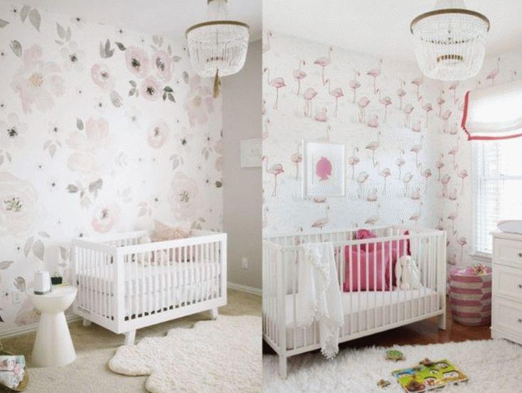 Обои в комнате для новорожденных