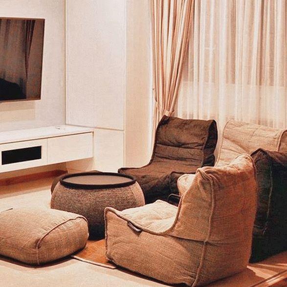 Бескаркасная мебель.