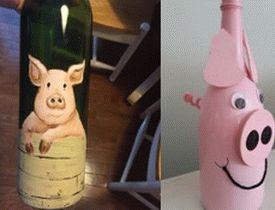 Pink-Pig-Wine-Bottle