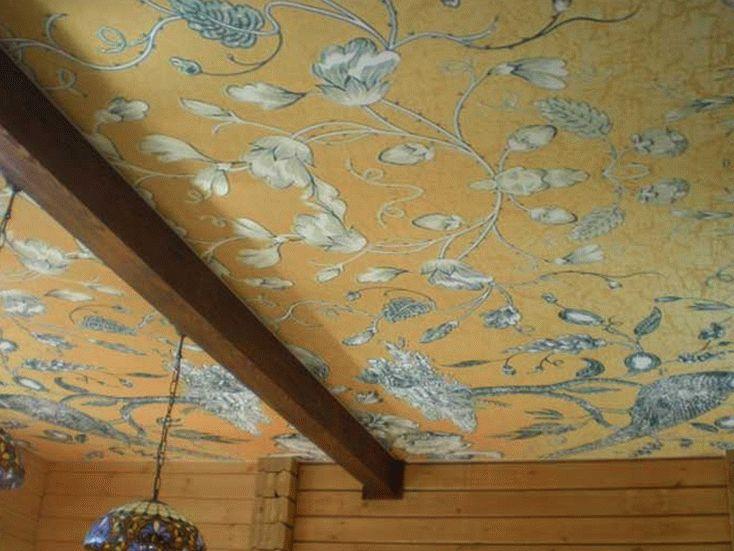Тканевый натяжной потолок для частного дома