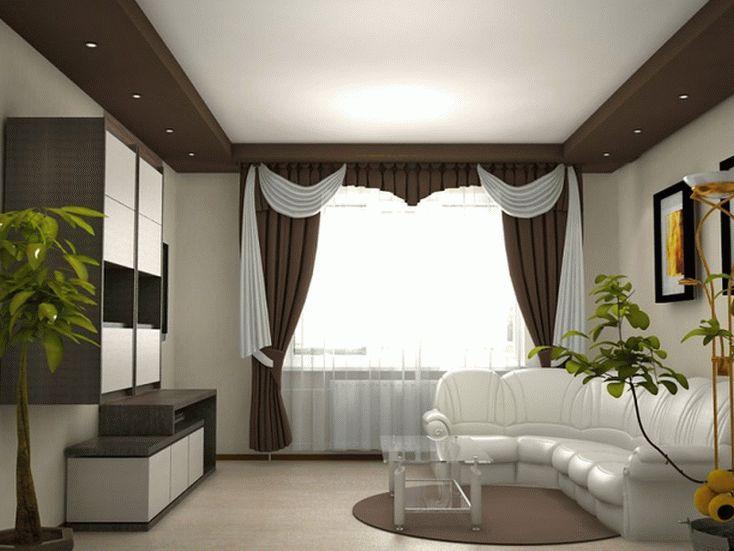 Дизайн матового натяжного потолка в зале