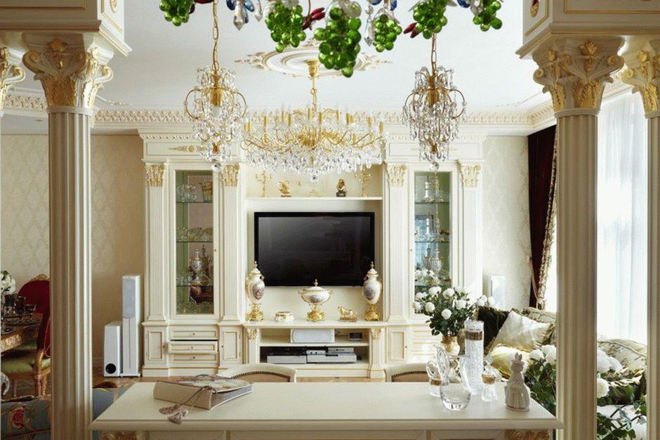 Античный стиль в гостиной