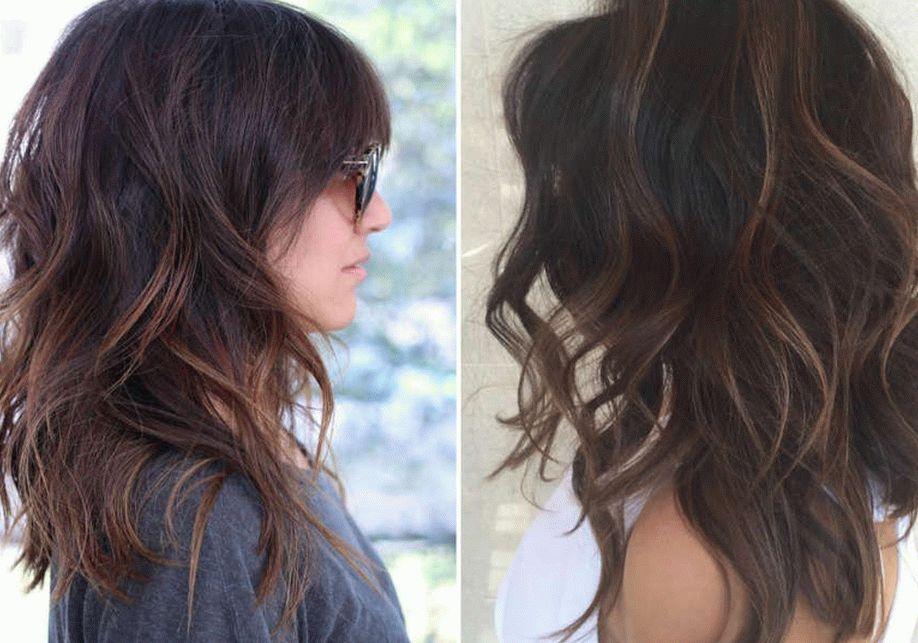 Стрижки каскад на средние волосы