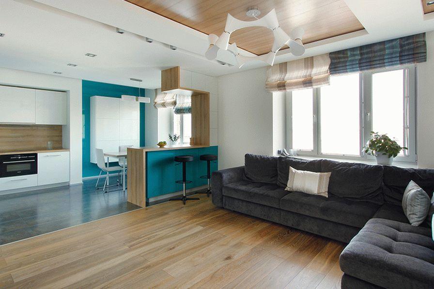 Совмещенная кухня с гостиной - просторам нет границ