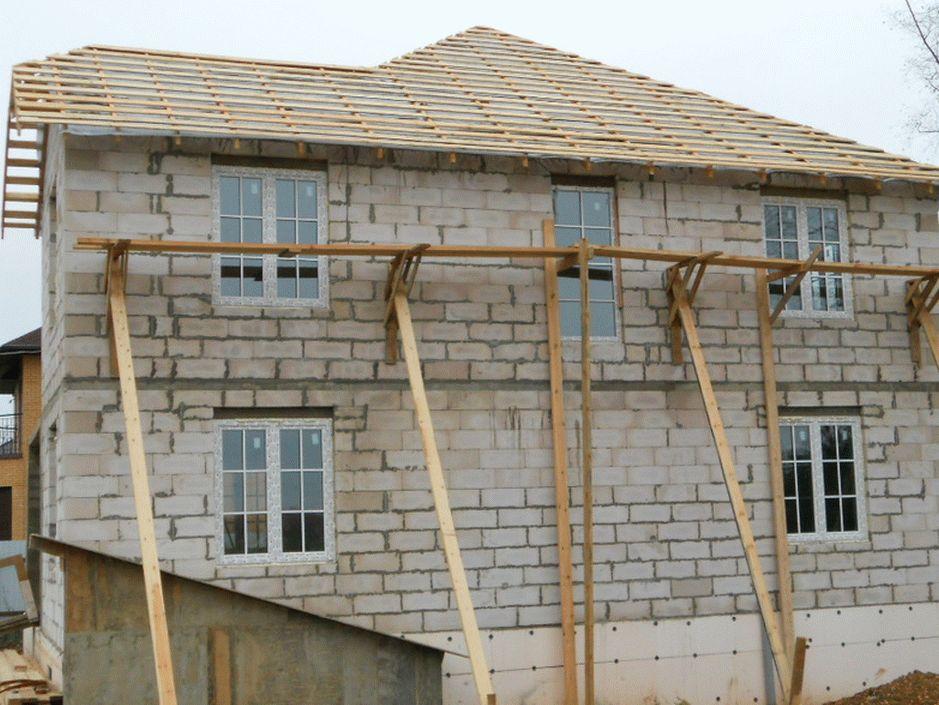 Дом из пеноблока строительство