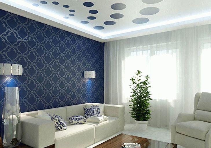 Дизайнерское оформление натяжного потолка