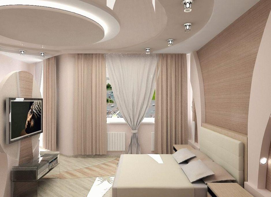 Оригинальный дизайн двухуровневого натяжного потолка
