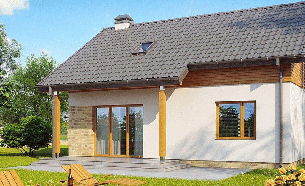 Дом из пеноблока с лоджией