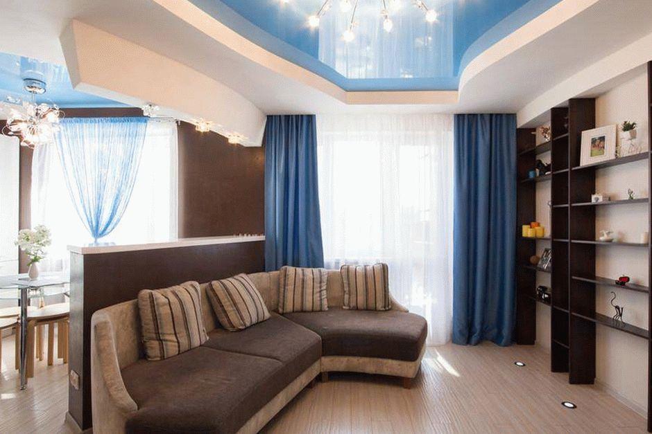 Дизайн глянцевого натяжного потолка