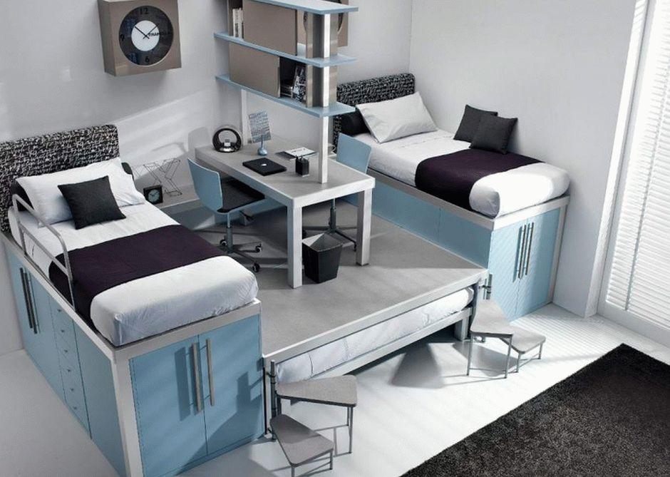 Спальня для двоих детей на подиуме