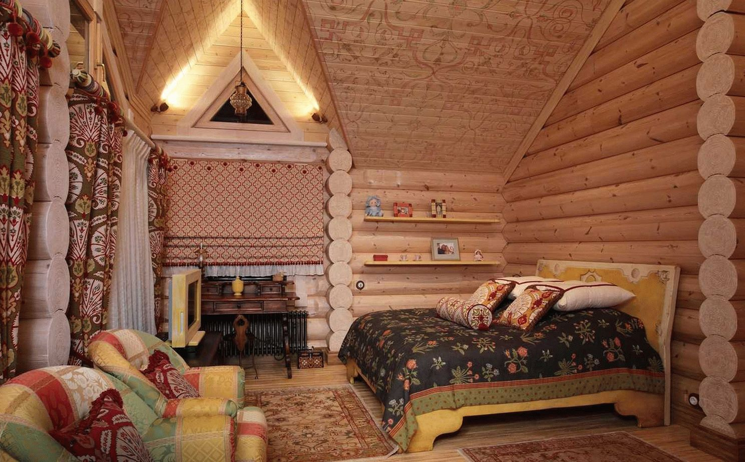 Интерьер дома в русском стиле