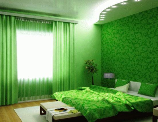 Снова о зеленом – применение в интерьерах